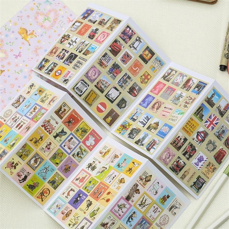 30packs/lot New vintage UK memory series stamp paper sticker  DIY  Multifunction note sticker Decoration label