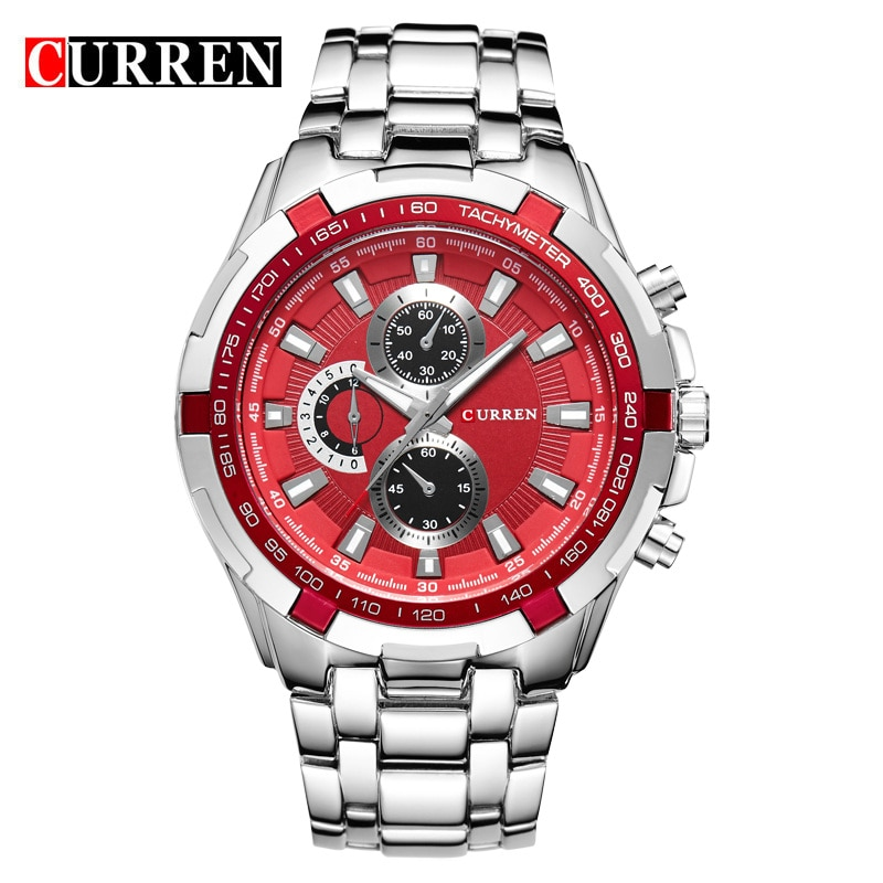 2016 New CURREN Luxury Brand Watches Men Quartz Fashion Casual Male Sports Watch Full Steel Military Watches Relogio Masculino