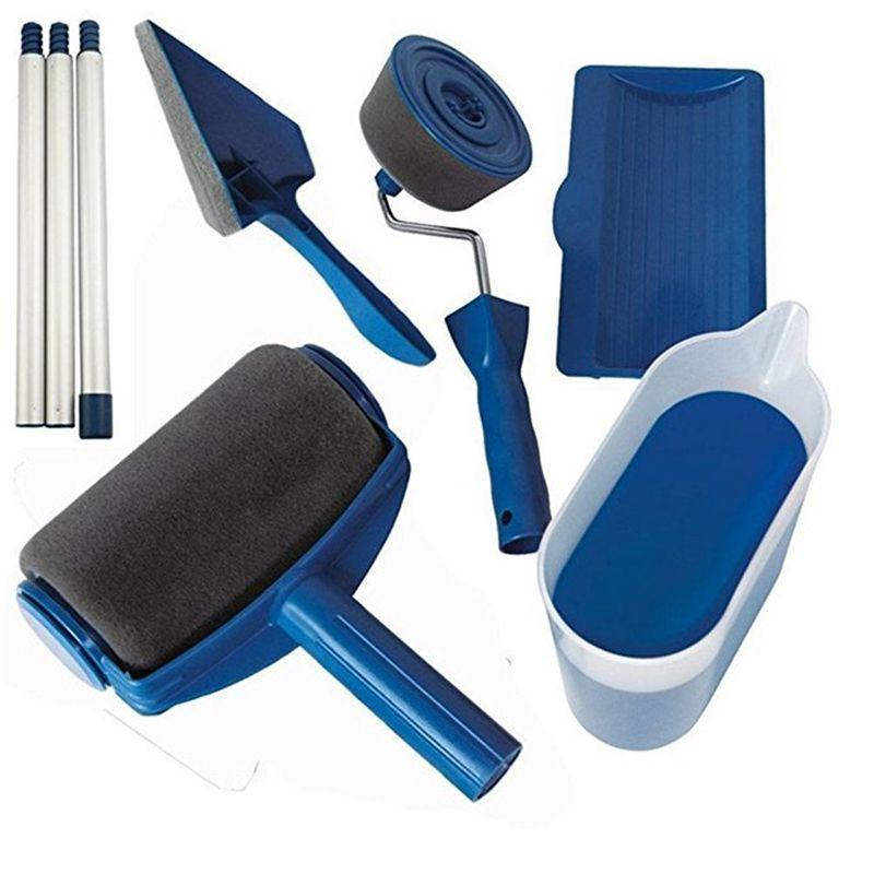 8 Pçs/set Corredor Pintura Rolo Pro Tools Set Escova Edger Reuniram Sala de Escritório Pintura de Parede Rolo De Pintura Jogo de Escova