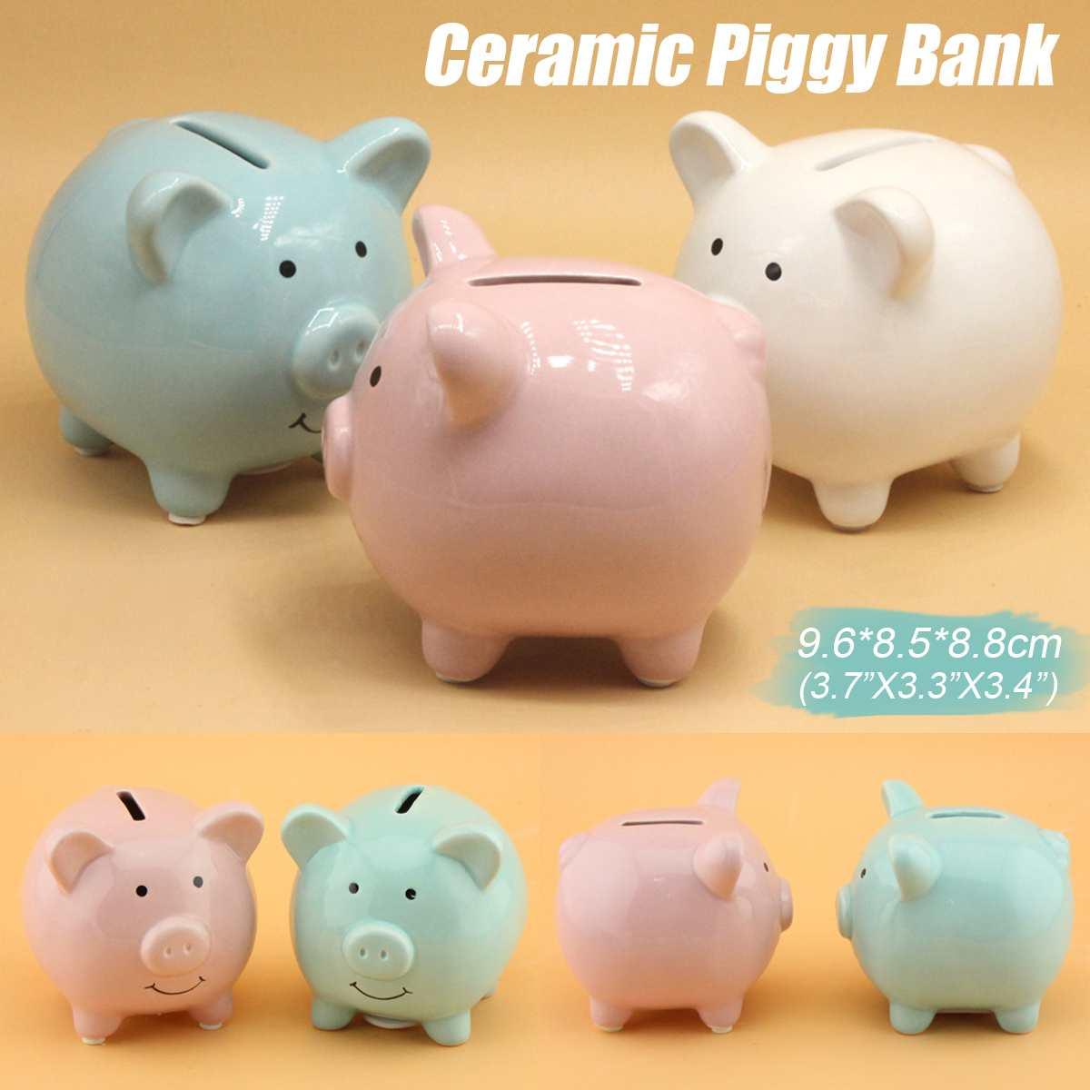 Hucha para guardar dinero, hucha, decoración del hogar, juguetes para niños, cajas de dinero, dibujos animados en forma de cerdo, regalo de cumpleaños, monedas, almacenamiento en efectivo