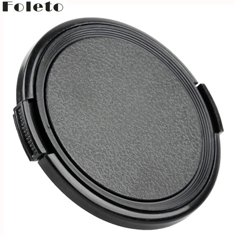 Foleto tapa de lente Snap en el lado pizca proteger 37/40 5/43 46/49/52/55/58/62/67/72/77/82/86/95/105mm para canon nikon Hasselblad lente
