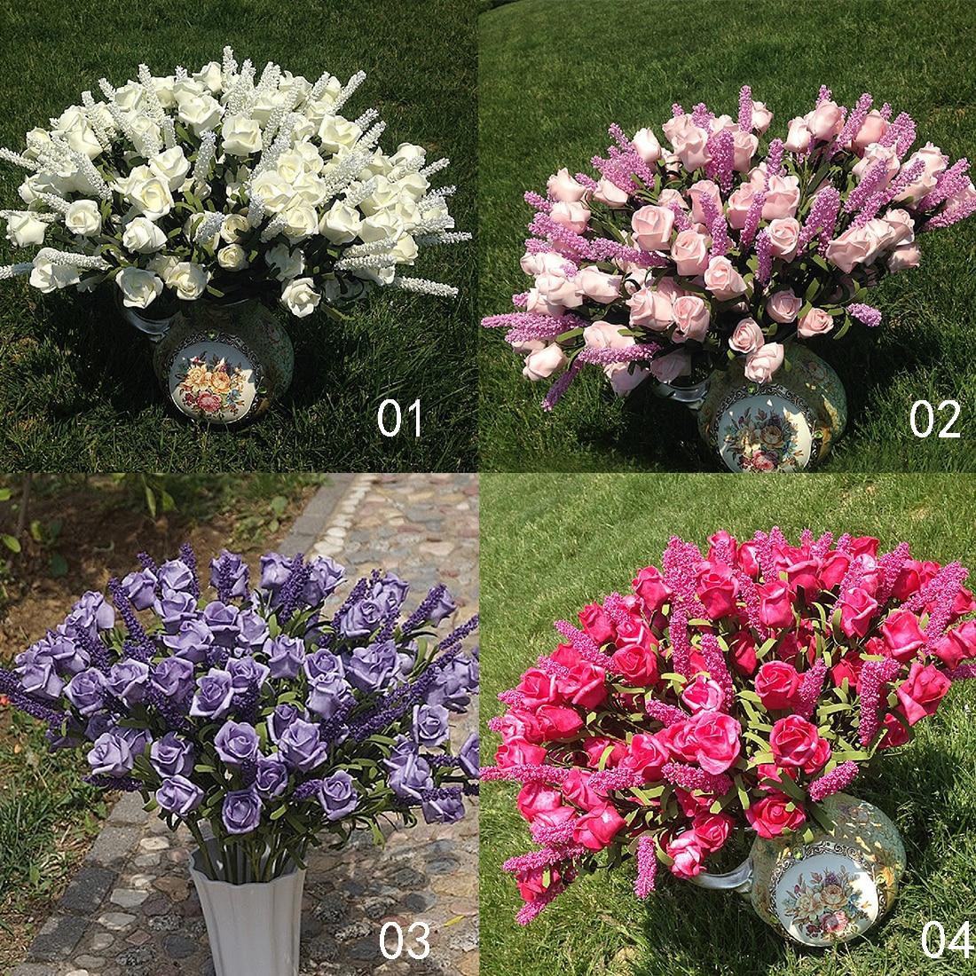 Искусственные цветы из пиона и шелка для свадьбы, 9 головок, Декор для дома