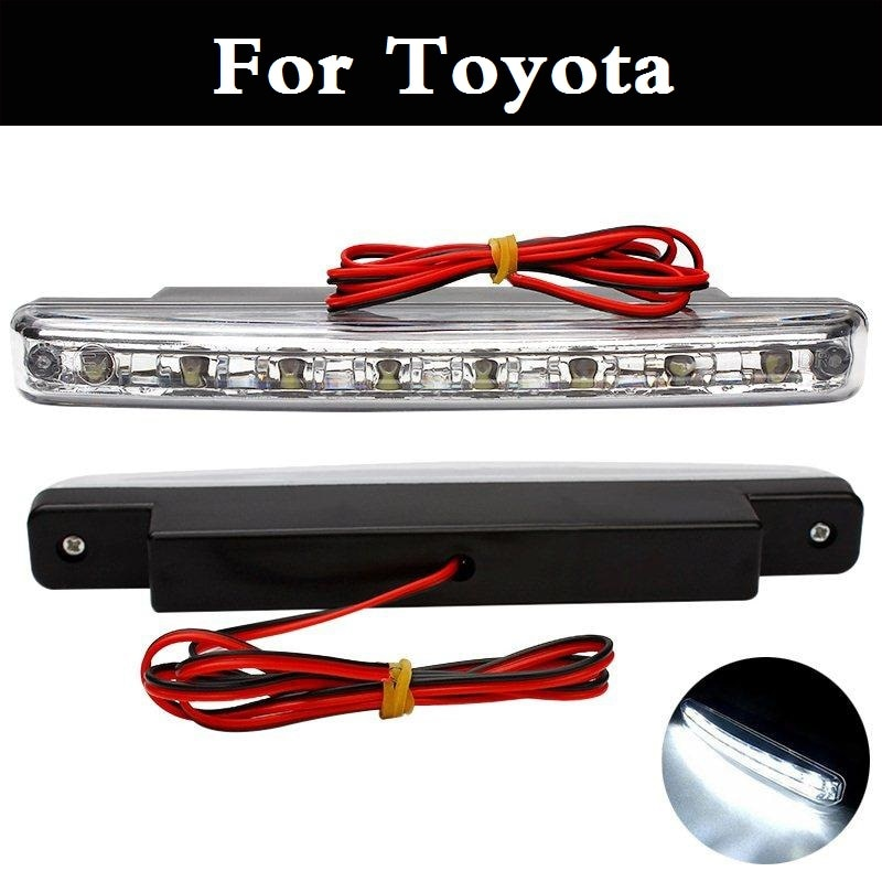 8 LED DC 12V luz de día fijo Placa de hierro tornillo DRL para Toyota Prius c Probox Progres Pronard RAV 4 prisa Sai