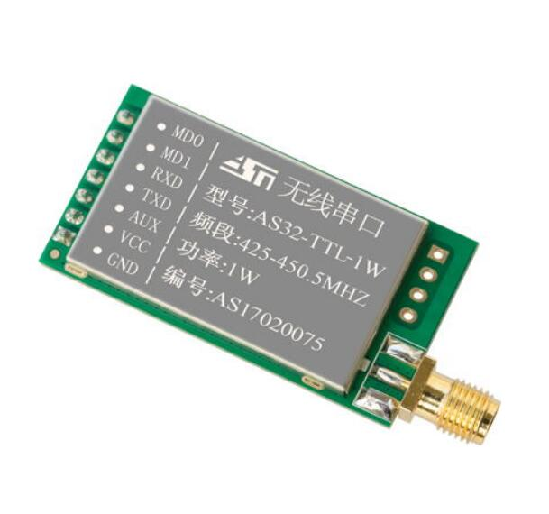 2 unids/lote de largo alcance 8KM LoRa SX1278 Módulo de transmisor y receptor rf AS32-TTL-1W UART 433 MHz 1W transceptor inalámbrico rf