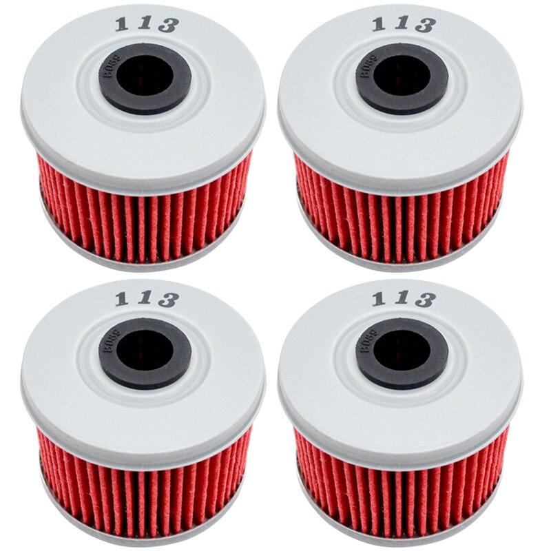 4 stücke Motorrad Motoröl Filter für Honda TRX300 EX FW X TRX 300 EX FW X TRX300EX TRX300FW TRX300X fourtrax 280 4X4 300 282