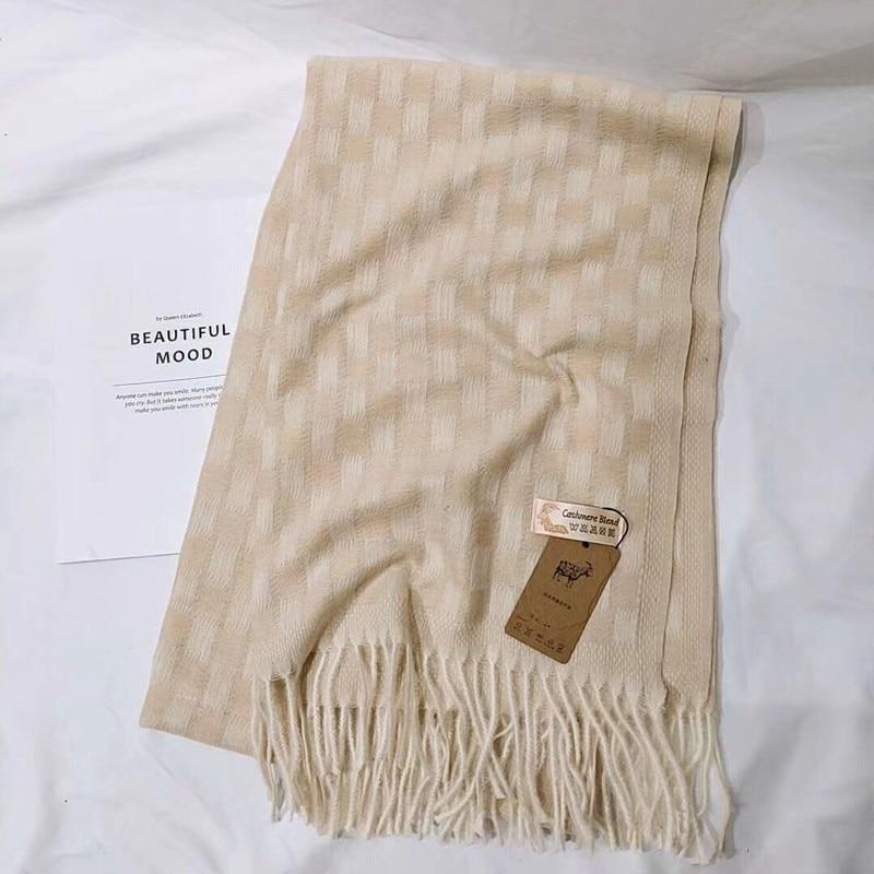 2019 New winter luxury brand plain women fashion cashmere acrylic scarf shawls oversize wraps foulard bandana pash LL190712