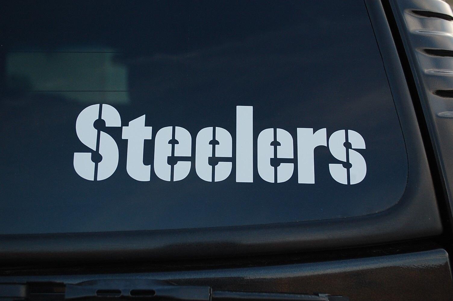 Pegatina de vinilo Steelers, pegatinas de fútbol de alta calidad para coche, portátil, motocicleta 15cm