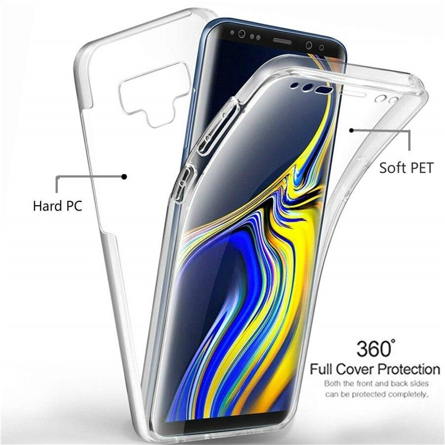 Funda de lujo 360 PET & PC para teléfono funda para Samsung Galaxy A3 A5 A7 A6 A8 A9 2016 2017 2018 funda de silicona suave