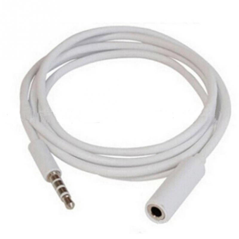 Cable de extensión de Audio de 3,5mm macho a hembra M/F auriculares 1M cable de extensión de línea de auriculares