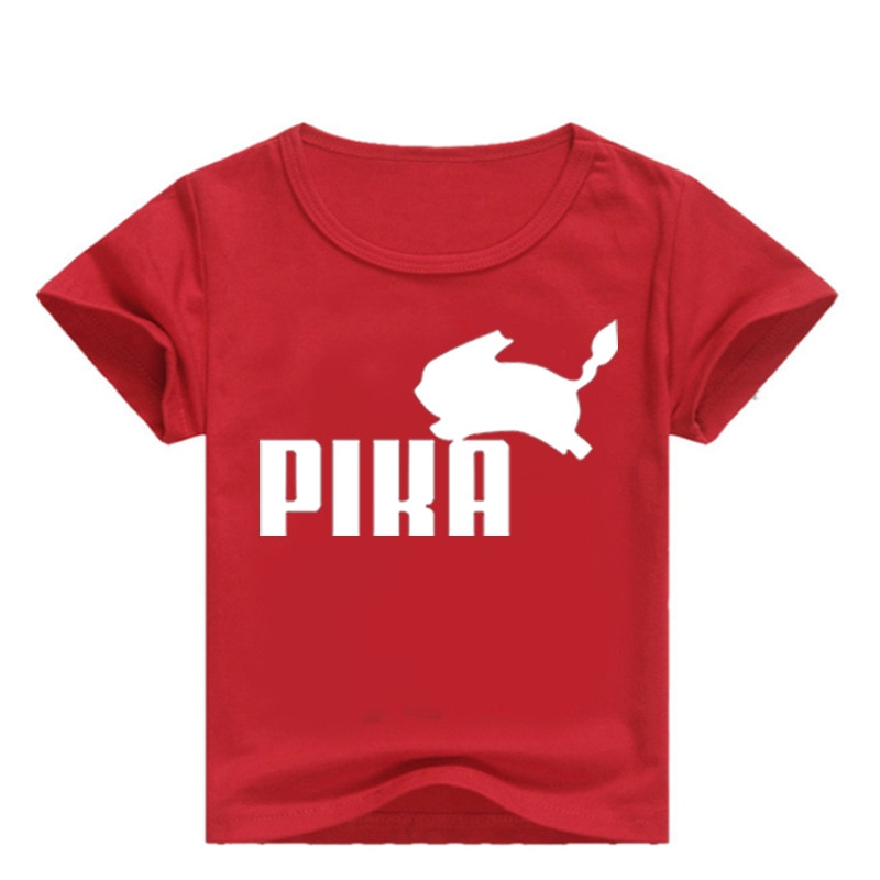 Camiseta de pokemon DLF 2-16Y, camisetas para niños de Anime, Pokemon Go Pika, ropa de verano, camiseta de manga corta para niños, camisetas para niñas