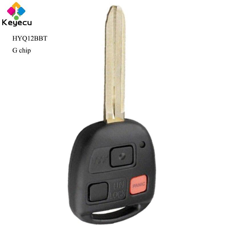 Llave de coche de Control remoto de repuesto keyeco con 3 botones y Chip G para Toyota FJ Cruiser 2010 2011 2012 2013 2014 _ HYQ12BBT