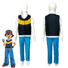 Enfants Pokemon DP Ash Ketchum Satoshi saison 3 diamant et perle Cosplay Costume Halloween carnaval enfant Costume