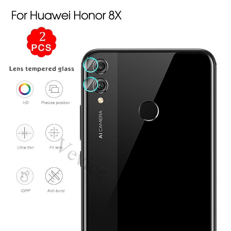 2PCS Len Protection For Huawei Honor 8X 8C 9 Lite Play 10 Note10 Magic2 9i Nova 3 3i 3e 2S 2i 8 X Camera Lens Tempered Glass
