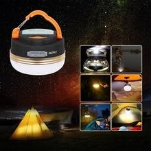T-SUN Mini Camping lumières 3W LED Camping lanterne tentes lampe en plein air randonnée nuit suspension lampe USB Rechargeable