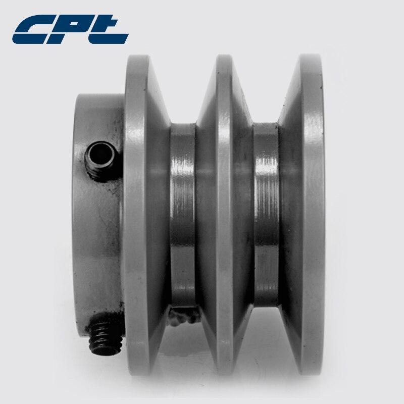 "CPT 2BK28 v belt sheave pulley, Cast Iron, B Belt Section, 2 Grooves,2.95""OD, bore 1/2"", 5/8"", 3/4"", 7/8"", 1"", 1-1/8"", 1-3/8"""