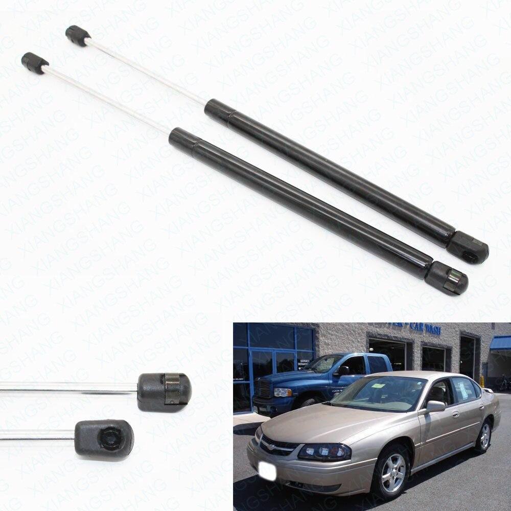 Auto soportes de elevación de capó delantero amortiguadores de Gas para 1997-2003 Pontiac Grand para Chevrolet Impala Sedan 21,74 pulgadas