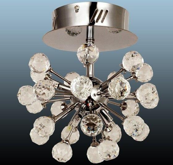 Envío Gratis, candelabro moderno De Cristal para techo, 6 luces, lámpara De Cristal para pasillo Dia22 * h25cm