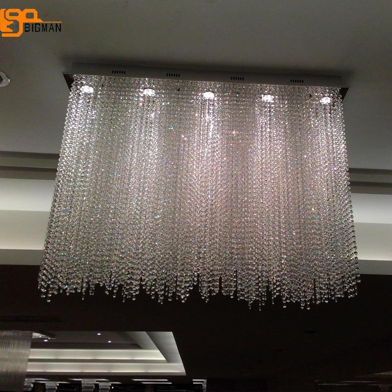 Diseño De lujo Rectangular De araña De Cristal De la sala De...