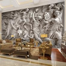 Papier Mural 3D rétro européen   Papier peint Photo personnalisé, Statues romaines rétro européennes, décoration murale, mur dart, arrière-plan de canapé, salon, Restaurant, 3D