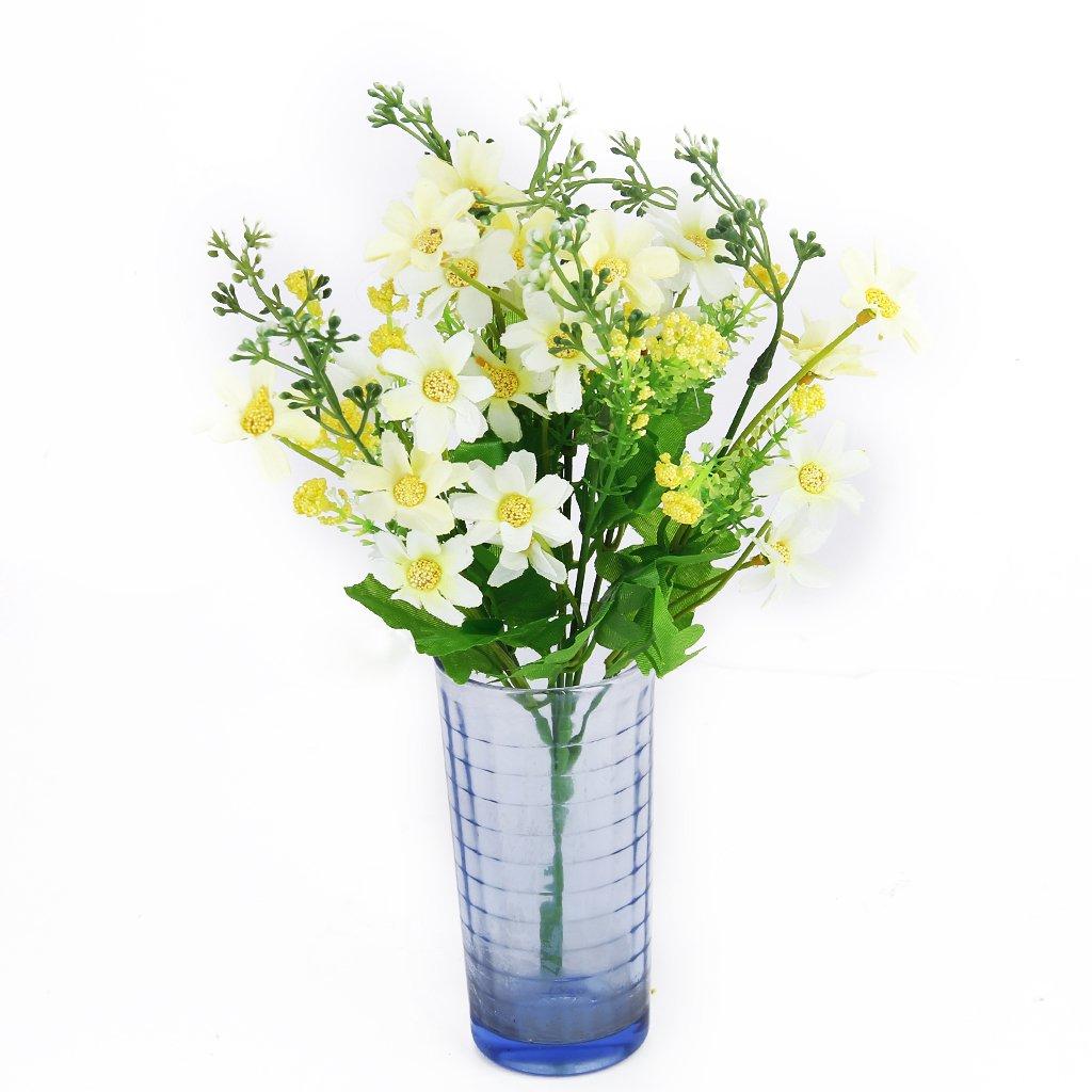 1 ramo de flores artificiales Cineraria ramo de flores para decoración de oficina en casa