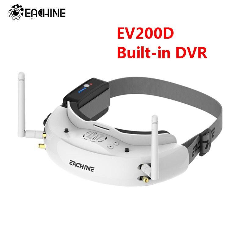 Eachine EV200D 1280*720 5.8G 72CH HD ميناء في 2D/ثلاثية الأبعاد المدمج في DVR التنوع الحقيقي FPV نظارات ل RC سباق طائرة صغيرة بدون طيار قطع الغيار