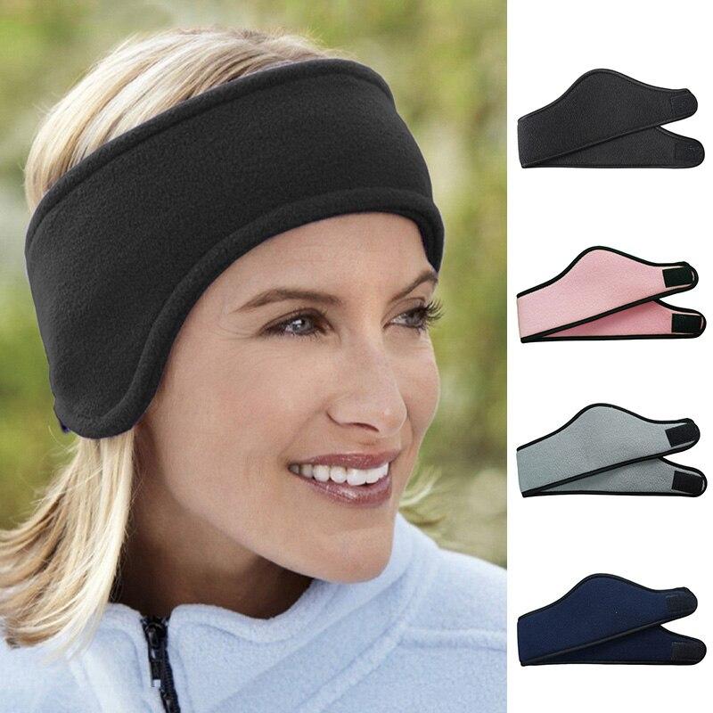 Спортивный головной убор унисекс для женщин и мужчин, теплая зимняя повязка на голову, флисовая Лыжная повязка на голову из спандекса, аксессуары для волос