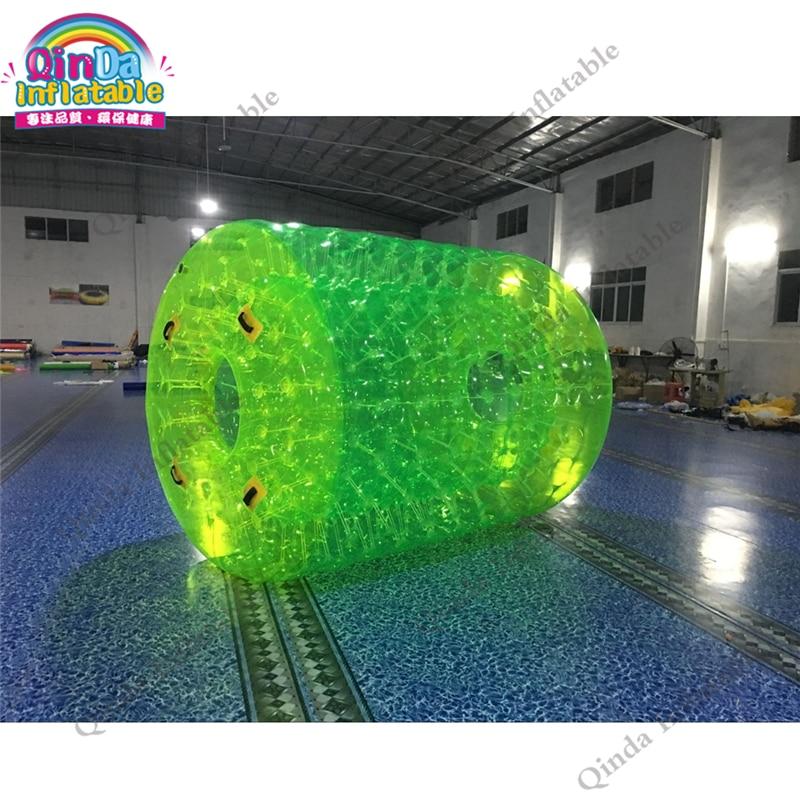 Bola de rodillo para agua de PVC fluorescente verde inflable Bola De Agua 1,0mm