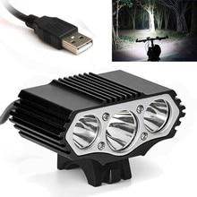6000LM 2 X CREE XM-L T6 LED USB lampe étanche vélo vélo phare vélo lumières vélo lumière lampe en plein air cyclisme camoing