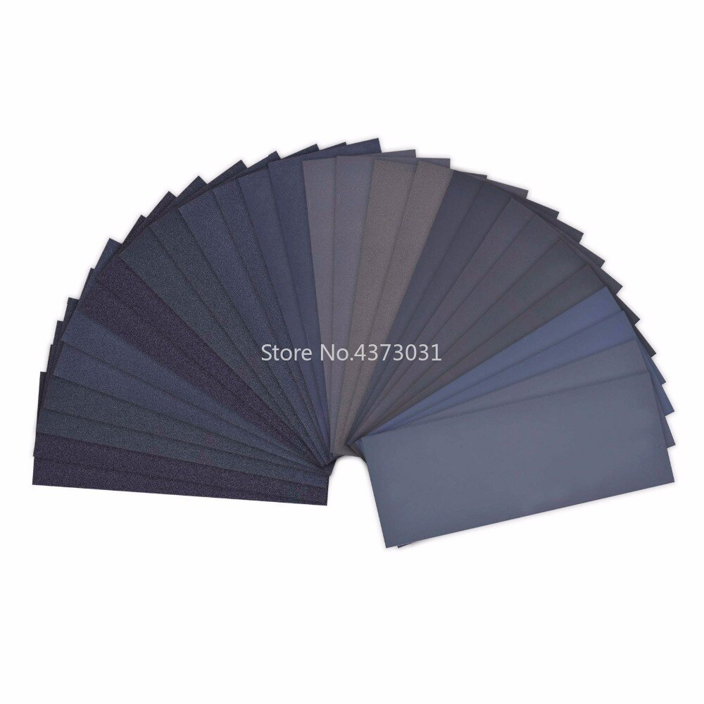 Ultrafine 5 חתיכות נייר זכוכית סט 1200 1500 2000 2500 3000 Grit מלטש נייר מים/יבש 9x3.6 אינץ /230x92mm