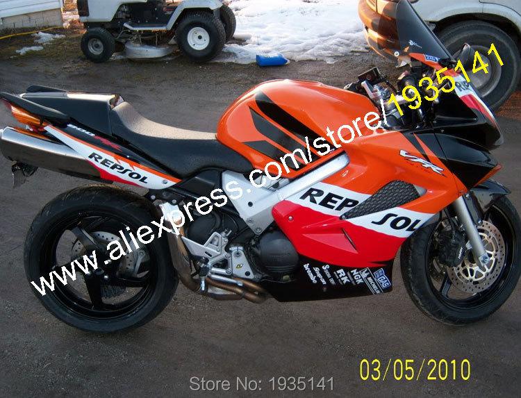 Carenado para Honda VFR800 2002-2012 Orange REPSOL VFR 800 2002 2004 2006 2012 carenados para motocicleta (moldeo por inyección)