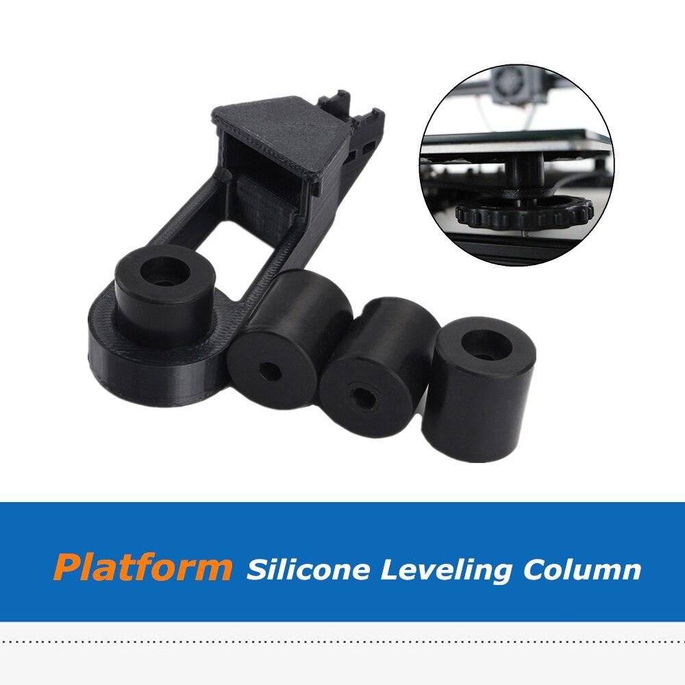 Columna espaciadora sólida de silicona + Cable de eje Y Retrain soporte de alivio de tensión de montaje en caliente para CR-10/CR10s/ ender-3/Anet i3 3D impresora
