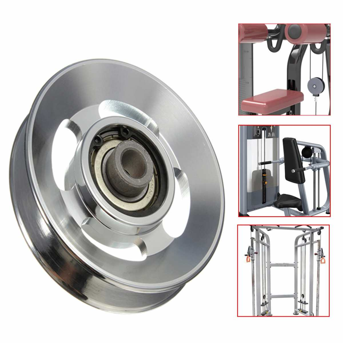 Rueda de la polea del cojinete de aleación de aluminio Universal equipo de gimnasio parte 88mm