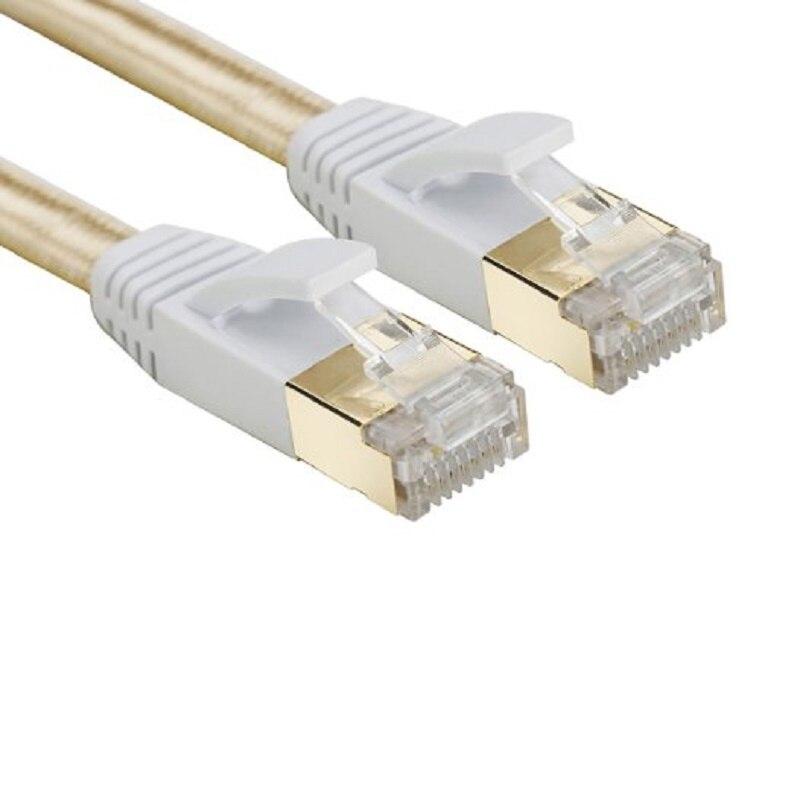 LNYUELEC Cat 7 RJ45 Shielded Pure copper LAN Network Ethernet Cable Internet Cord 3FT 6FT 10FT 1M 2M 3M 5m 10m 15m 20m