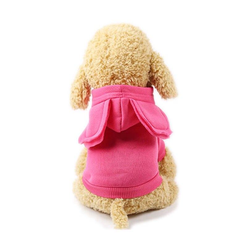 Disfraz de mascota polar cálido ropa de gato divertida oreja grande mascota cachorro gato sudaderas con capucha suéter Otoño e Invierno ropa de gatito XS-XXL