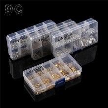 DC 1 boîte/lot extrémités mixtes fermoirs de fixation/fermoirs de homard/anneaux de saut/chaînes dextension/ensemble de perles à sertir pour la fabrication de bijoux
