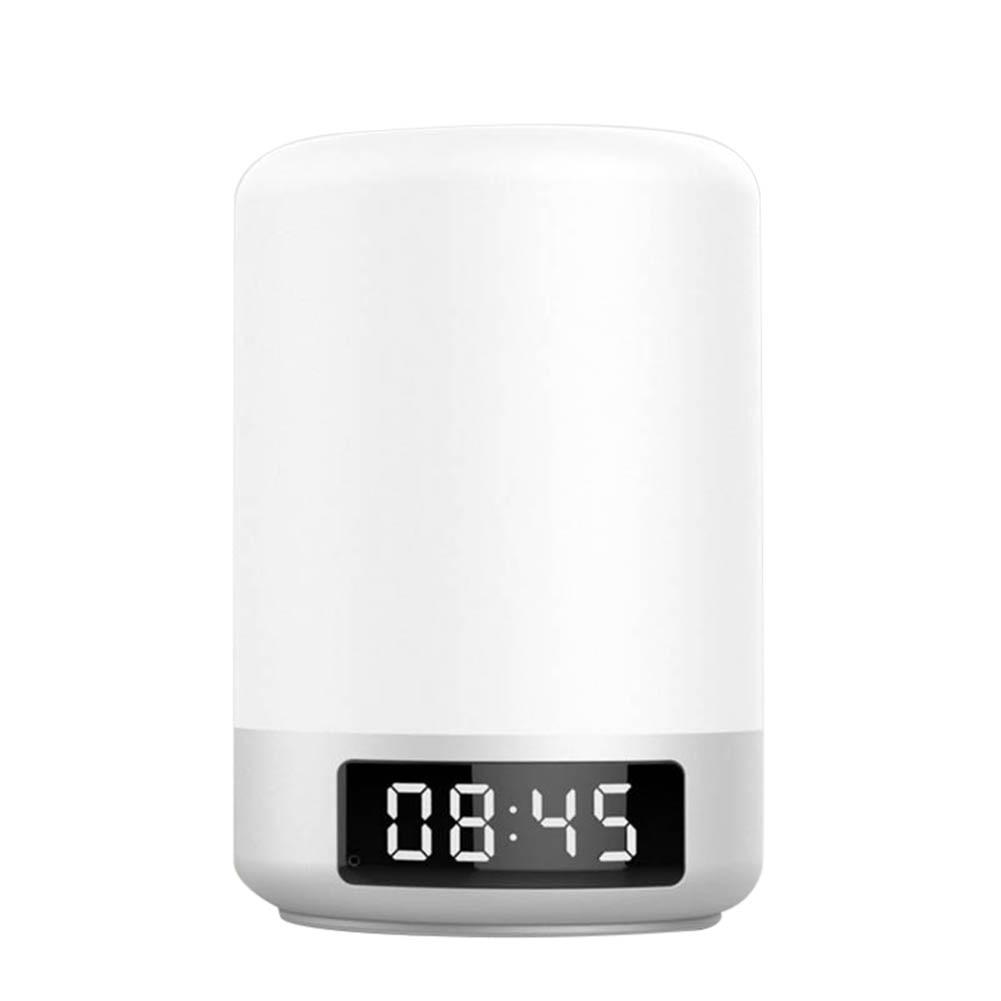 Gran oferta Bluetooth inalámbrico V4.2 altavoz inteligente lámpara de luz nocturna alarma reloj Audio TF Tarjeta de apoyo