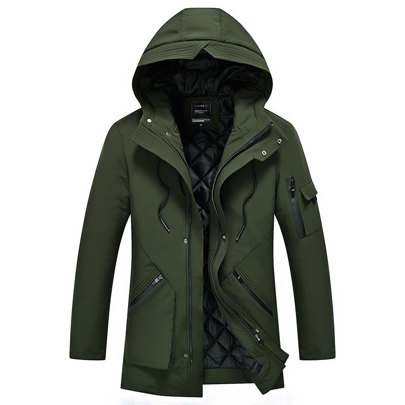 Loldeal, abrigos de invierno con capucha para hombre, Parkas de algodón grueso cálido, chaqueta de plumón informal para hombre, Parka