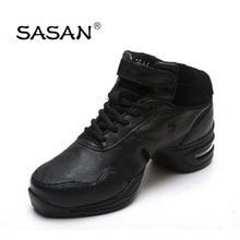 Sneakers Ballroom Latin Dance Shoe Woman  SASAN 8837 Import Genuine leather  Modern Shoes Slip-up Br