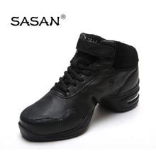 Sneakers Ballroom Latin Dance Shoe Woman  SASAN 8837 Import Genuine leather  Modern Shoes Slip-up Br