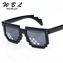 WarBLade Men Vintage Children Glasses 8 bit Pixel Women Sunglasses Retro Mosaic Sun Glasses for kids