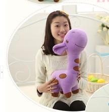lovely cartoon spots giraffe toys cute purple giraffe plush doll birthday gift about 60cm