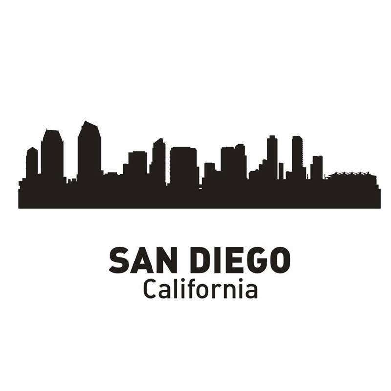 Calcomanía de Ciudad de SAN Francisco, calcomanías de pared de horizonte de punto de referencia, calcomanías de boceto, póster, pegatina de decoración del hogar