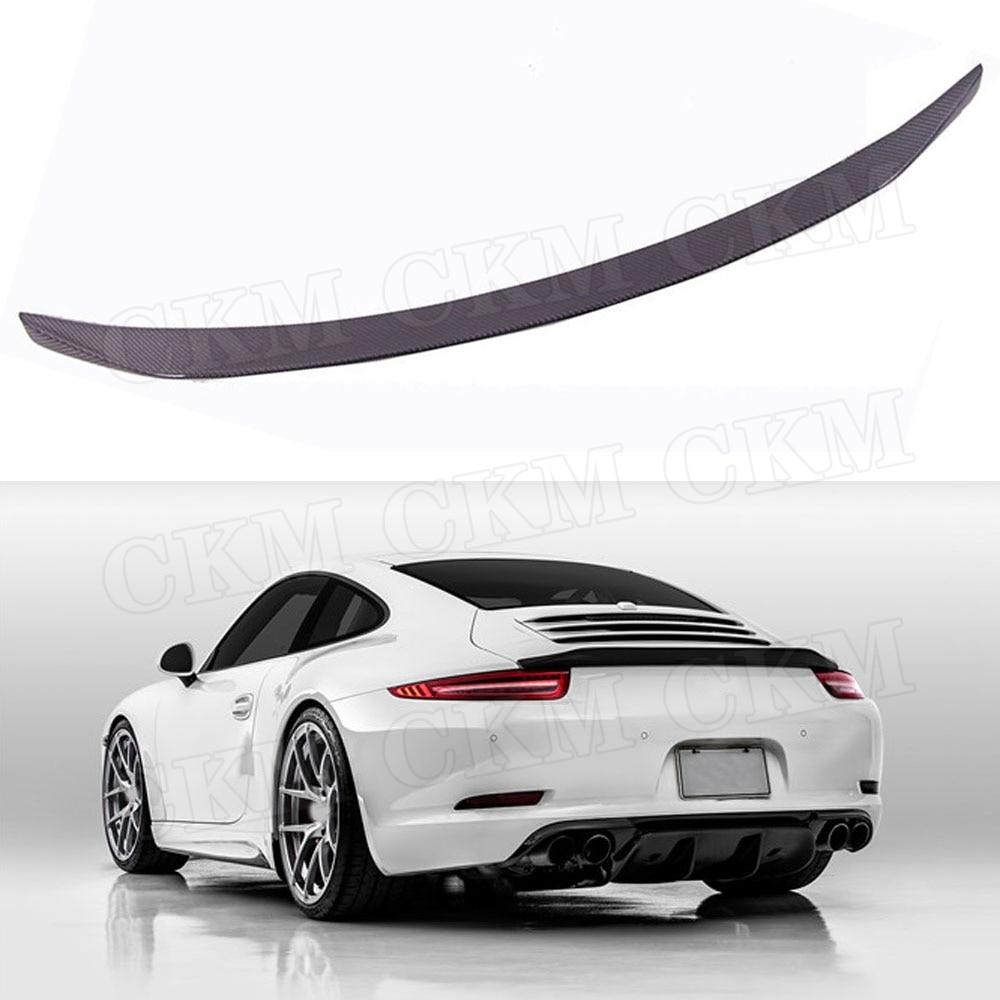 Alerón trasero de fibra de carbono para Porsche Carrera 911 991 2012 2013 2014 2015 VRS 911 v-rt estilo FRP