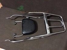Voor Suzuki GN250 Rvs Bagagerek met Rugleuning Rugleuning Bagagedrager Complete KIT voor Suzuki GN250 alle Modellen