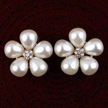50pcs 20mm Pearl Rhinestone Button Flatback Wedding Embellishment Diamante Buckles