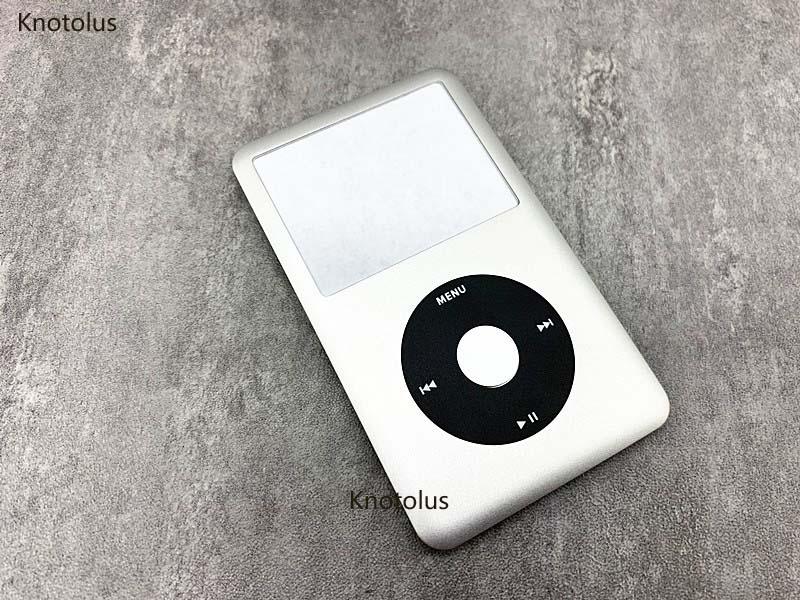 Cubierta de la caja de la carcasa delantera de knotolus silver para iPod 6th 7th gen classic 80 gb 120 gb 160 gb