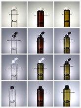 Bouteille PET en plastique vert/TRANSPRENT/brun, avec couvercle en plastique pour lotion/émulation/sérum/toner/eau/toilette/emballage cosmétique, 150ML