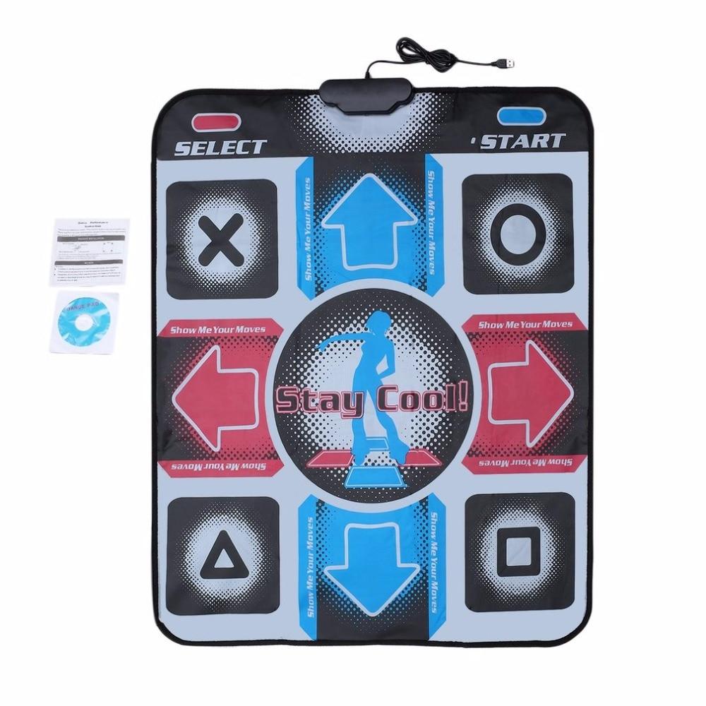 Dance Mat Dancing Step Dancing Mat Dance Pad Dancer Blanket Equipment Revolution HD Non-Slip Foot Print Mat to PC with USB