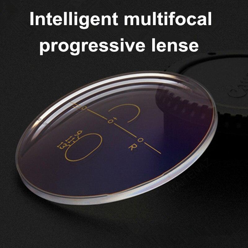Progressive multi-focal lenses 1.56 1.61and 1.67 aspherical plating green film myopia high molecular lenses for 2pcs