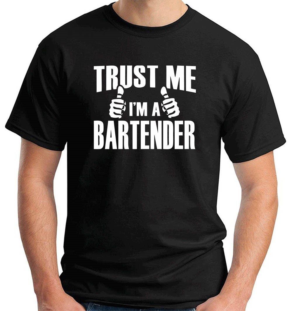 Envío Gratis, camiseta para hombre, Camiseta holgada de manga corta de Color sólido clásico, barra de magia, cóctel, bebida de BARMAN, camiseta